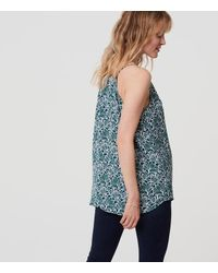LOFT - Blue Maternity Leafy Strappy Cami - Lyst