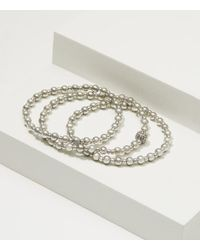 LOFT | Metallic Stretch Bracelet Set | Lyst