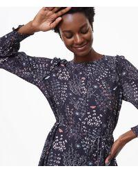 LOFT - Black Butterfly Forest Shirtdress - Lyst