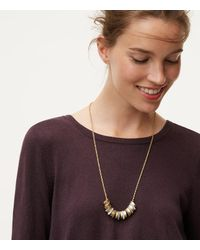 LOFT | Metallic Stone Stacked Necklace | Lyst