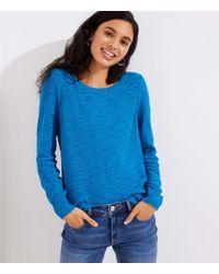 LOFT - Blue Modern Textured Sweater - Lyst