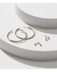 LOFT - Metallic Crystal Stone Stud Earring Set - Lyst