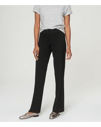 LOFT - Black Custom Stretch Trouser Pants In Julie Fit With 31 Inch Inseam - Lyst