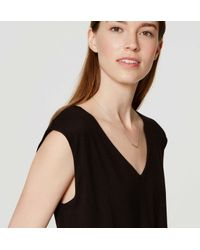 LOFT - Black Petite Mixed Media Pocket Dress - Lyst