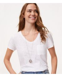 LOFT | Metallic Faceted Stone Pendant Necklace | Lyst