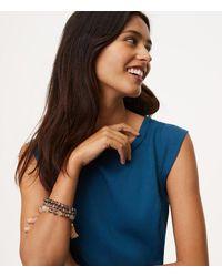 LOFT | Metallic Chain Tassel Beaded Stretch Bracelet Set | Lyst
