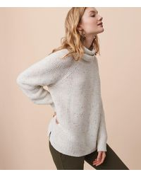 LOFT - Gray Lou & Grey Rainbow Chip Sweater - Lyst
