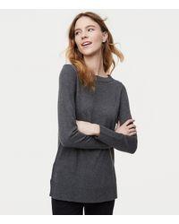LOFT - Gray Petite Modern Tunic Sweater - Lyst