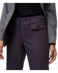 LOFT - Blue Trousers In Button Pocket Tweed In Julie Fit - Lyst