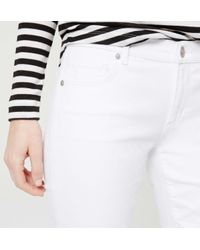 LOFT - Tall Modern Kick Crop Jeans In White - Lyst
