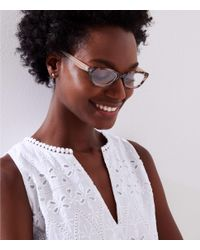 LOFT - Multicolor Tortoiseshell Print Rectangle Reading Glasses - Lyst