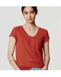 LOFT - Red Vintage Soft Tee - Lyst