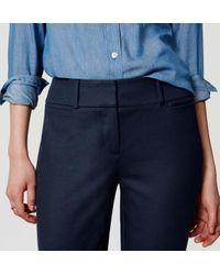 LOFT - Blue Tall Doubleweave Riviera Cropped Pants In Julie Fit - Lyst