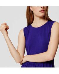 LOFT - Blue Cap Sleeve Flare Dress - Lyst