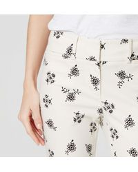 LOFT - White Petite Meadow Floral Cropped Riviera Pants In Marisa Fit - Lyst