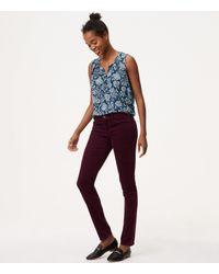 LOFT - Blue Tall Modern Skinny Corduroy Pants - Lyst