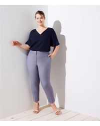 LOFT - Blue Plus Slim Custom Stretch Pencil Pants - Lyst