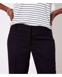 LOFT - Black Petite Trousers In Twill In Marisa Fit - Lyst