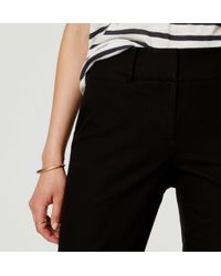 LOFT - Black Tall Basketweave Riviera Cropped Pants In Julie Fit - Lyst