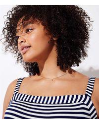 LOFT - Blue Plus Striped Strappy Maxi Dress - Lyst
