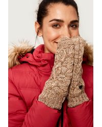 Lolë - Red Cable Mittens - Lyst