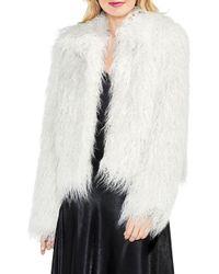 Vince Camuto - White Long Hair Faux Fur Jacket - Lyst