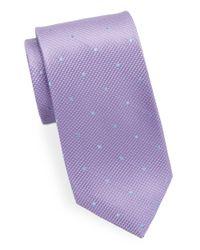 Black & Brown - Purple Classic Polka Dot Tie for Men - Lyst
