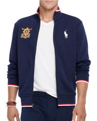 Polo Ralph Lauren | Blue Countries Fleece Track Jacket for Men | Lyst