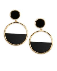 Kate Spade | Metallic 14k Gold-plated Semiprecious Pavé Stone Double Drop Earrings | Lyst