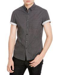 Kenneth Cole - Black Maverick Scratch Print Shirt for Men - Lyst