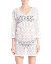 J Valdi | White Mesh Dress Cover-up | Lyst