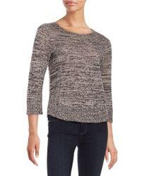 Eileen Fisher - Black Organic Linen Sweater - Lyst