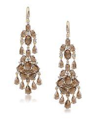 Carolee | Metallic Desert Oasis Goldtone Chandelier Earrings | Lyst