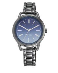 Nine West - Gray Gunmetal Chain Link Watch, Nw1811blgn - Lyst