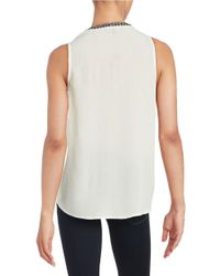 Sanctuary - White Embroidered Crepe Top - Lyst