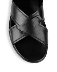 Kenneth Cole - Black Liten Up Leather Sandals for Men - Lyst