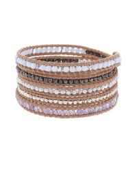 Chan Luu | Multicolor Semi Precious Stone Nugget Wrap Bracelet | Lyst
