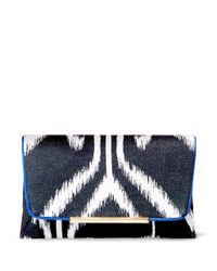 B Brian Atwood - Multicolor Natalia Printed Linen Clutch - Lyst