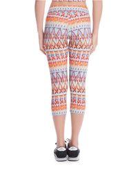Karen Kane - Orange Printed Cropped Leggings - Lyst