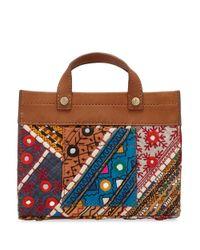 Sam Edelman - Brown Multi Print Mini Cleo Crossbody Bag - Lyst