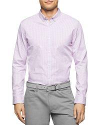 Calvin Klein   Purple Long Sleeved Button Down Shirt for Men   Lyst
