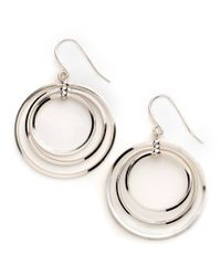 Lauren by Ralph Lauren | Metallic Triple-Circle Earrings | Lyst