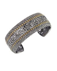Effy | Metallic Balissima Sterling Silver And 18k Yellow Gold Cuff Bracelet | Lyst