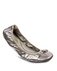 Me Too | Metallic Legend Patent Leather Ballet Flats | Lyst