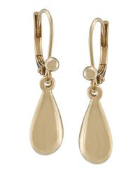 Lauren by Ralph Lauren - Metallic Goldtone Drop Earrings - Lyst