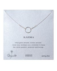 Dogeared - Metallic Sterling Silver Karma Necklace - Lyst