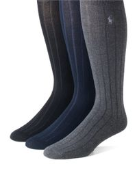 Polo Ralph Lauren | Blue 3-pack Mercerized Cotton Socks Set for Men | Lyst