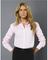 Lauren by Ralph Lauren | Pink Aaron Long-sleeved Classic Non-iron Shirt | Lyst
