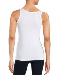 Splendid - White Knit Tank Top - Lyst