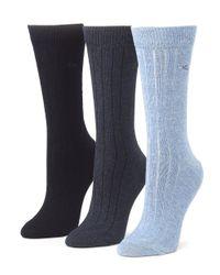 Calvin Klein | Blue Combed Cotton Socks | Lyst